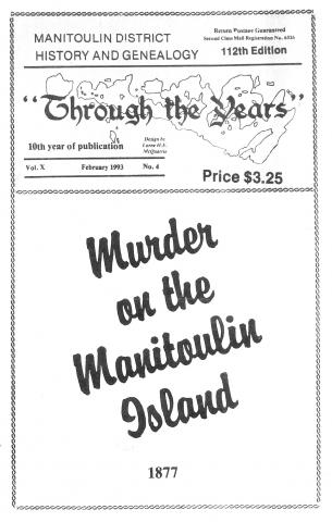 Murder on the Manitoulin pamphlet