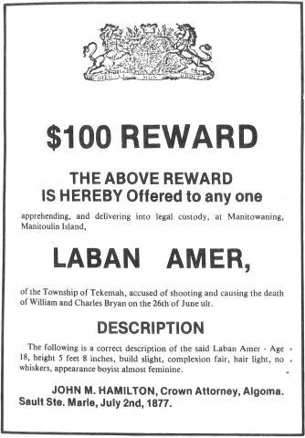 Wanted Poster Laban Amer