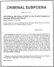 Criminal Subpoena