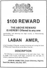 Wanted Poster Laban Amer